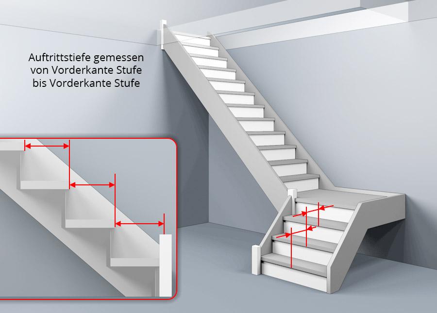 treppenberechnung  links gewendelte podesttreppe mit